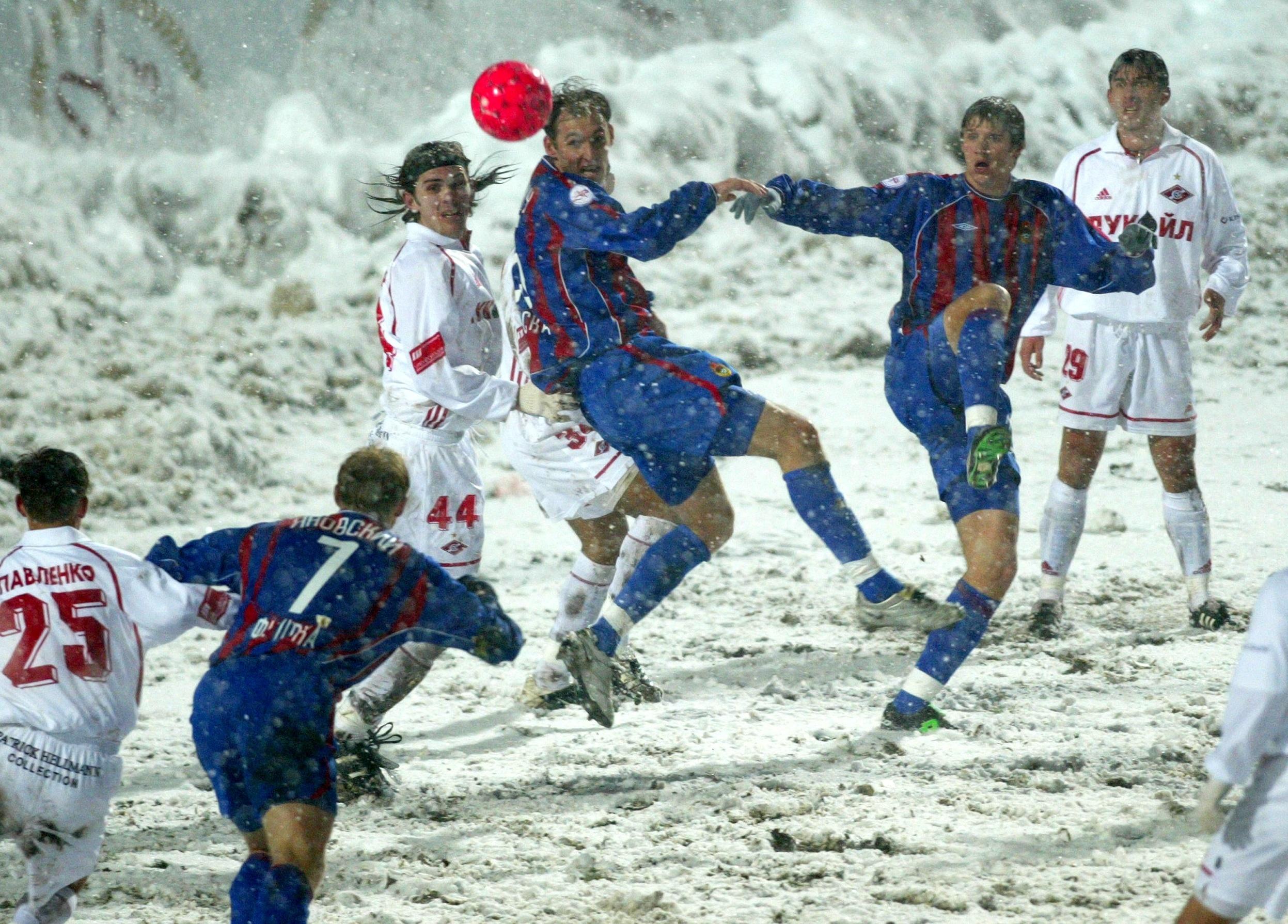 цска спартак 2002 снежное дерби